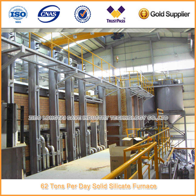 62 Tons Per Day Solid Sodium Silicate Furnace