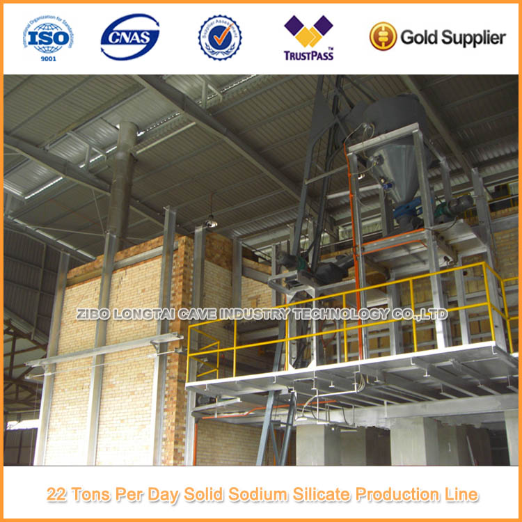 22 Tons Per Day Solid Sodium Silicate Plant
