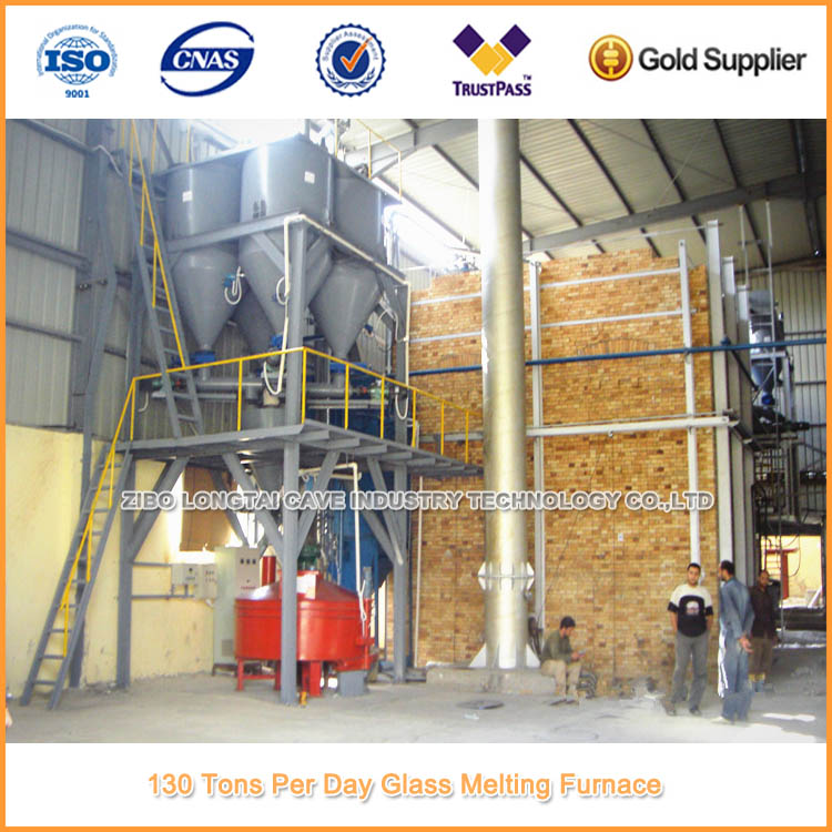 19 Tons/day Recuperative Sodium Silicate Kiln For Sale
