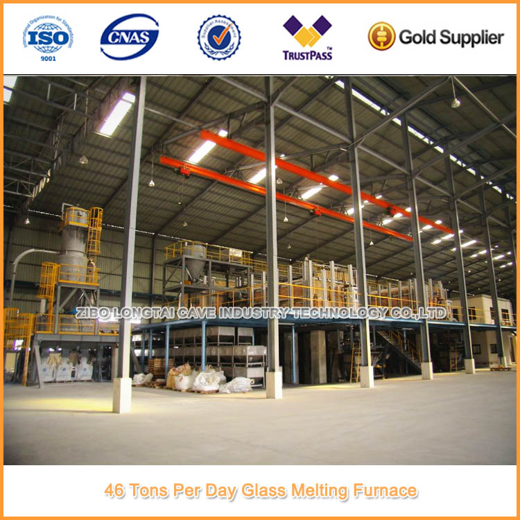 46 Tons Per Day Frit Glass Furnace