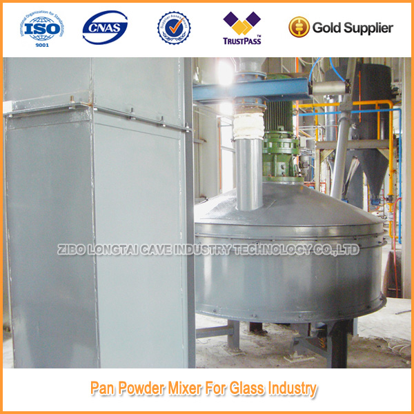 PAN powder mixer for glass industry