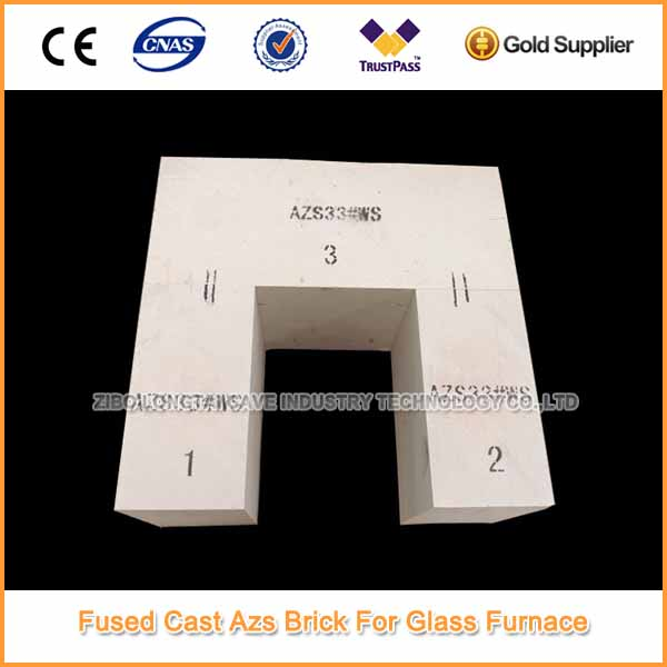 Fused cast azs blocks for glass furnace